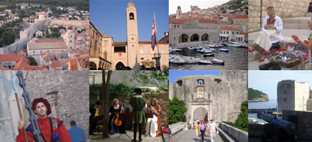 Picture shows a compilation of scenes from Dubrovnik Croatia