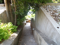 The stairway leading to St Jakov beach