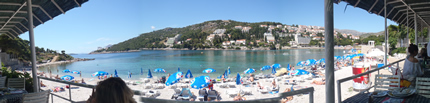 Lapad Beaches Dubrovnik - View from Vis I  Beach
