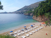 St Jakov beach with a view of Dubrovnik