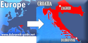 Map: Europe->Croatia->Dubrovnik