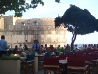 Bokar fortress Dubrovnik - View from the nearby restaurant