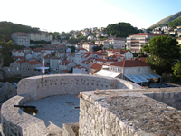 View on Bokar fortress from Dubrovnik City walls