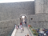 Buza gate on the northern wall of Dubrovnik