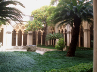 Cloister of Dominican monastery in Dubrovnik