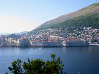 Sea side view of Dubrovnik