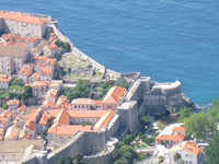 West side of Dubrovnik City wall complex