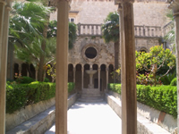 Cloister of the Friars Minor monastery in Dubrovnik