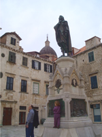 Gundulic Statue in Dubrovnik on Gundulic Square