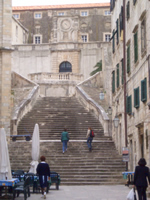 Staircase of the Jesuit complex in Dubrovnik