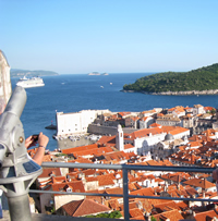 Panorama view of Dubrovnik from vista point of Minceta Tower