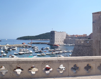 View of Old Port Dubrovnik from inner Ploce bridge