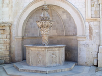 Small Onofrios Fountain in Dubrovnik