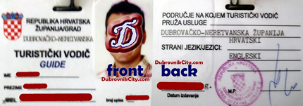 Licensed Dubrovnik Guide - ID card